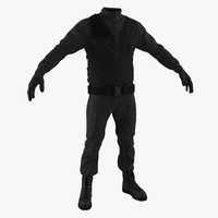 swat uniform 6 3d max