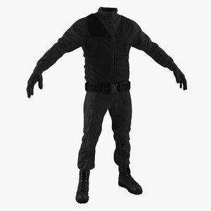 swat uniform 6 3d max
