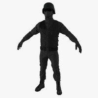 3d model of swat uniform 4