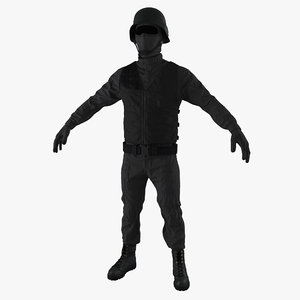 3d model of swat uniform 4
