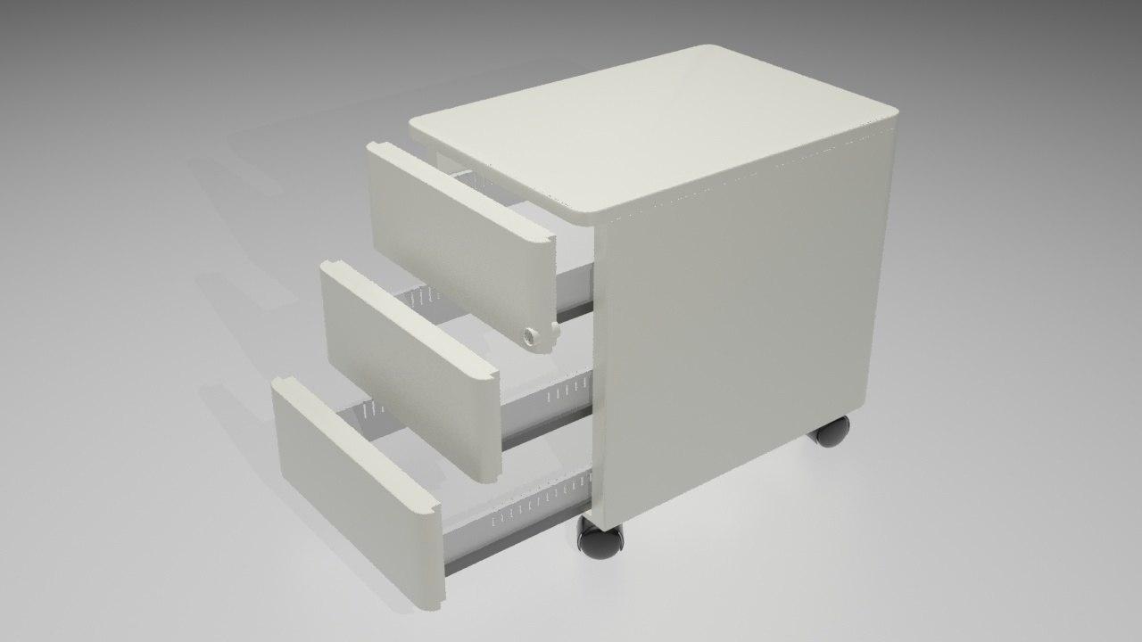 desk draws 3d 3ds