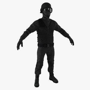3d swat uniform 3