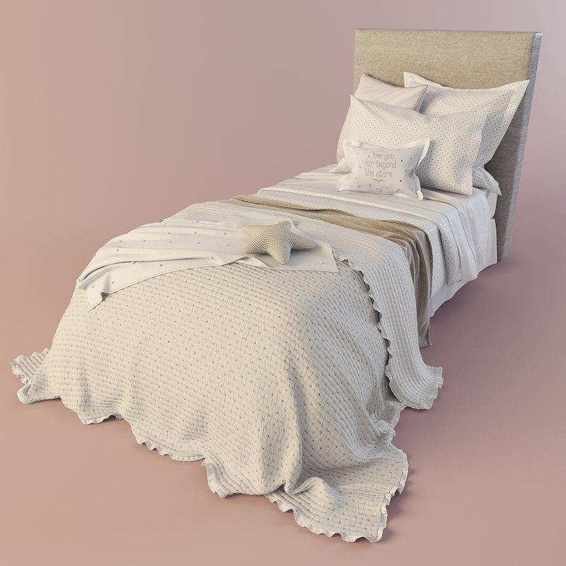 3d bedclothes bed