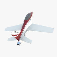Sport Aircraft ViperJet 3 Rigged 3D Model