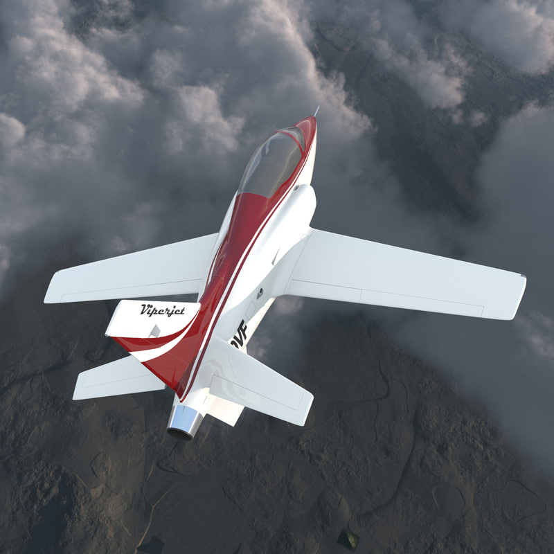 3ds max sport aircraft viperjet rigged