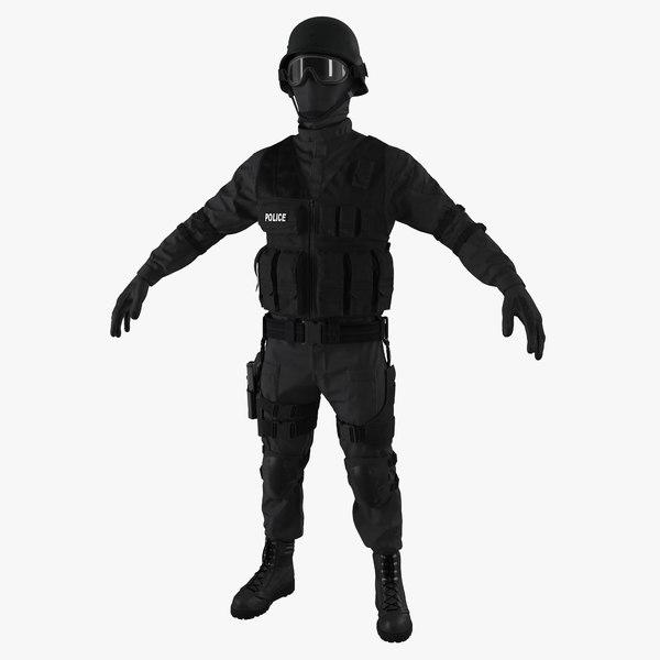 swat uniform 2 c4d