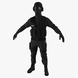 swat uniform 2 c4d