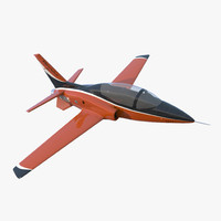 3d sport aircraft viperjet rigged model