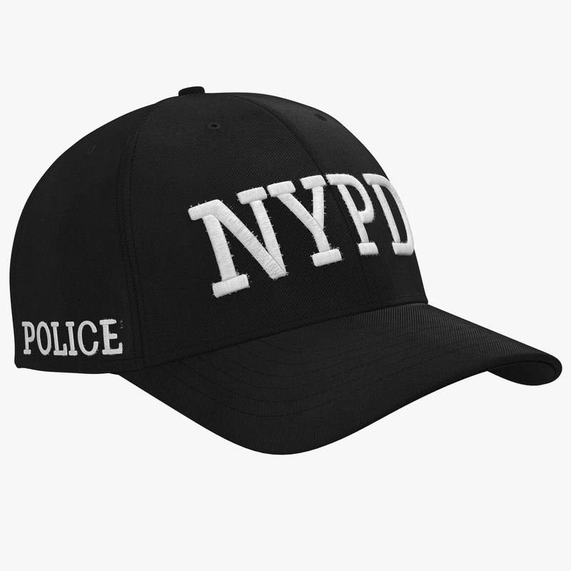 nypd police hat 3d model
