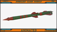 3d arbalest class missile animation model