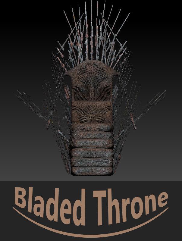 3d max throne blade
