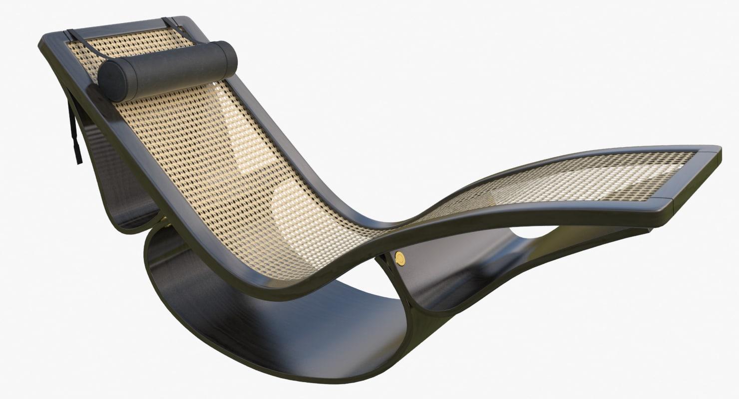 rio chaise longue black max