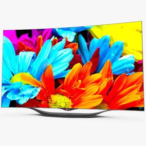 lg oled smart tv 3d model