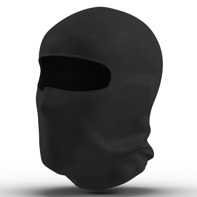 balaclava face mask 3d max