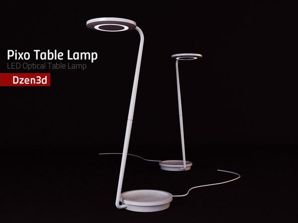 3d model of pixo optical table lamp