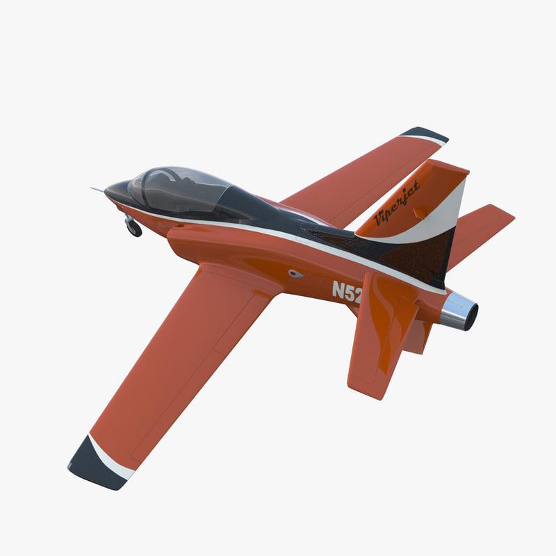 3ds max sport aircraft viperjet