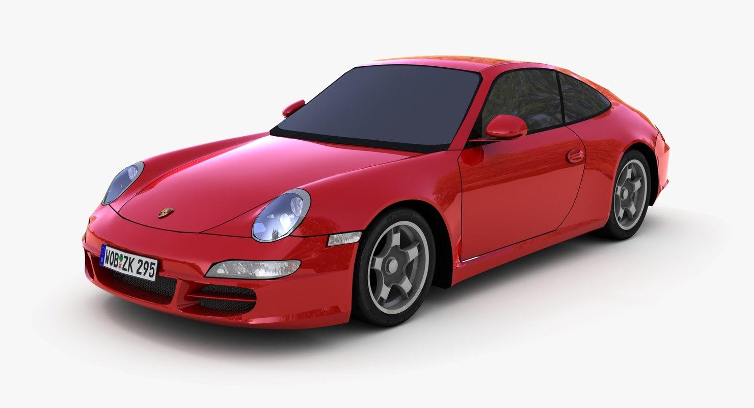 porsche 911 carrera s 3d max