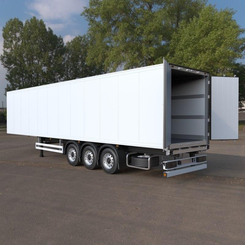 refrigerated semi exterior interior 3d max