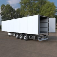 Refrigerated Semi Trailer (European): Exterior + Interior