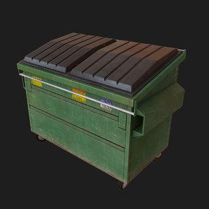 trash dumpster 3d model