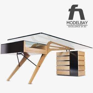3d carvour desk