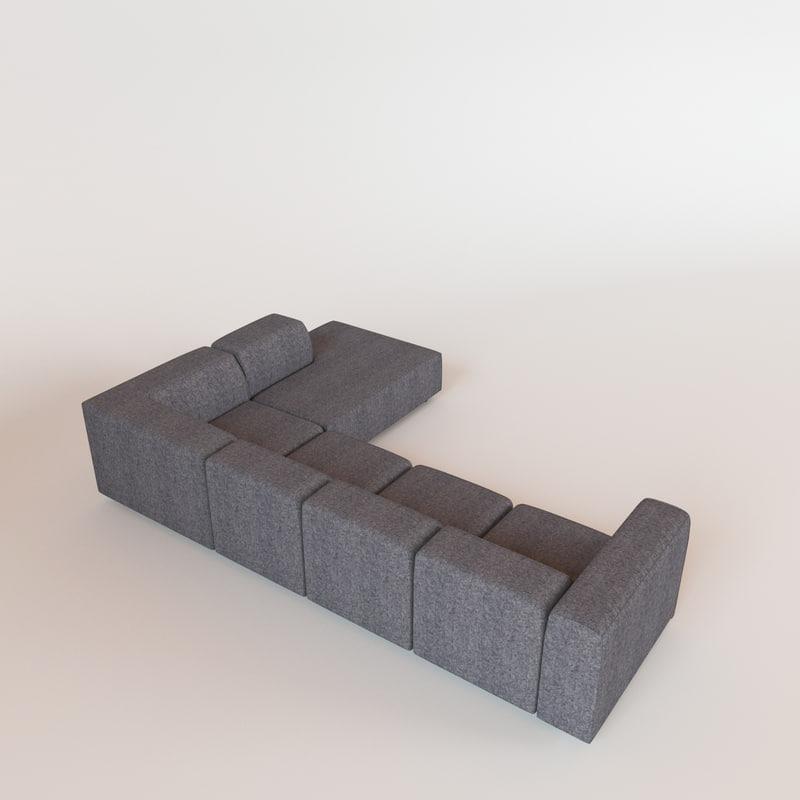 3d Model Of Carmo Sofa Bo Concept