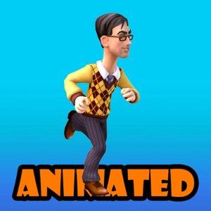 citizen animation 3d model