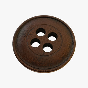 3d wood button model
