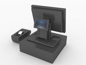 pos cash register 3d model