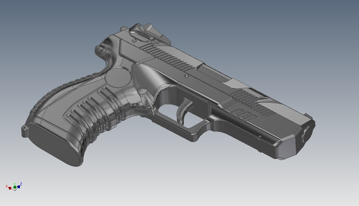 pistol cordova 3d model