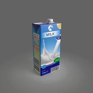 3d milk package