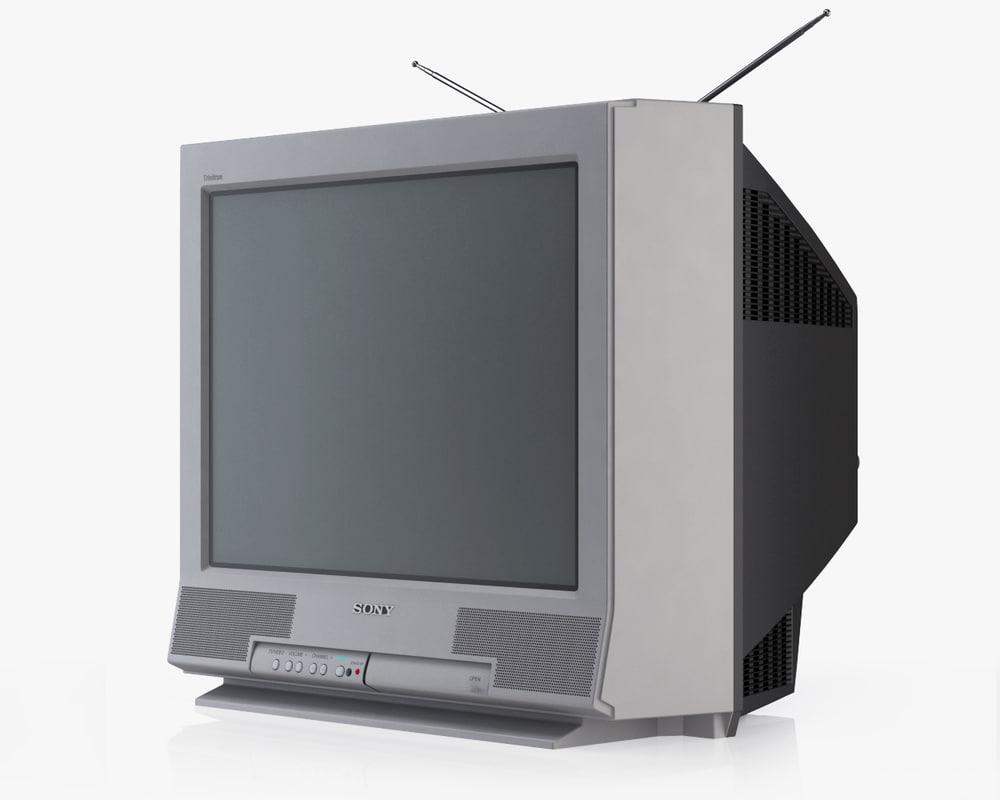 sony tv trinitron. 3d old tv sony trinitron