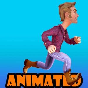 3d model cool boy animation