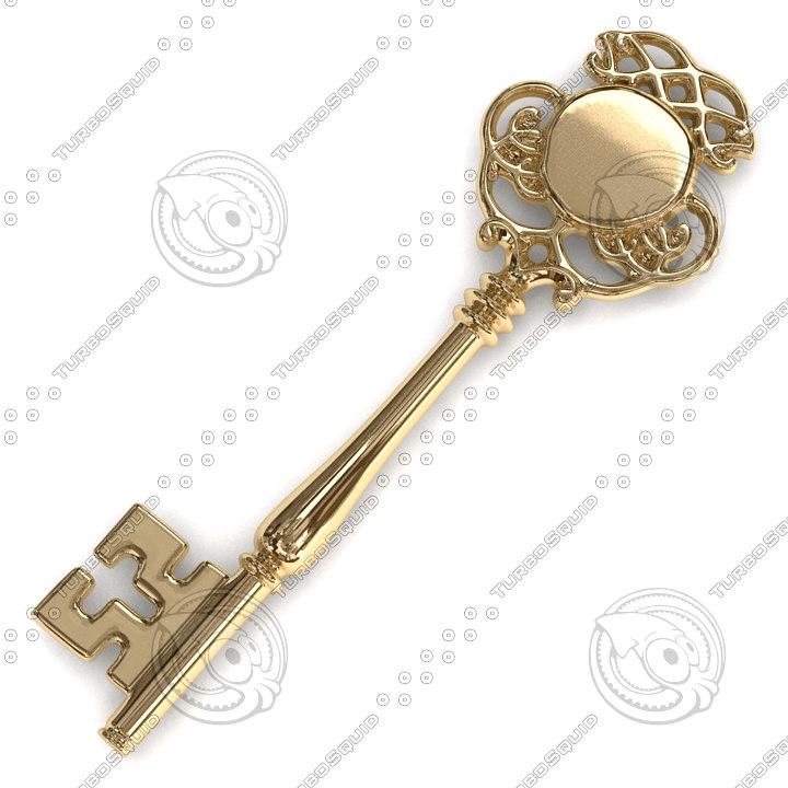 3d obj vintage key
