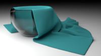 glass bowl linen 3ds