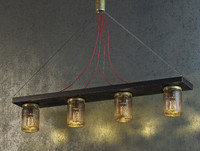 Industrial Celing lamp with Jars
