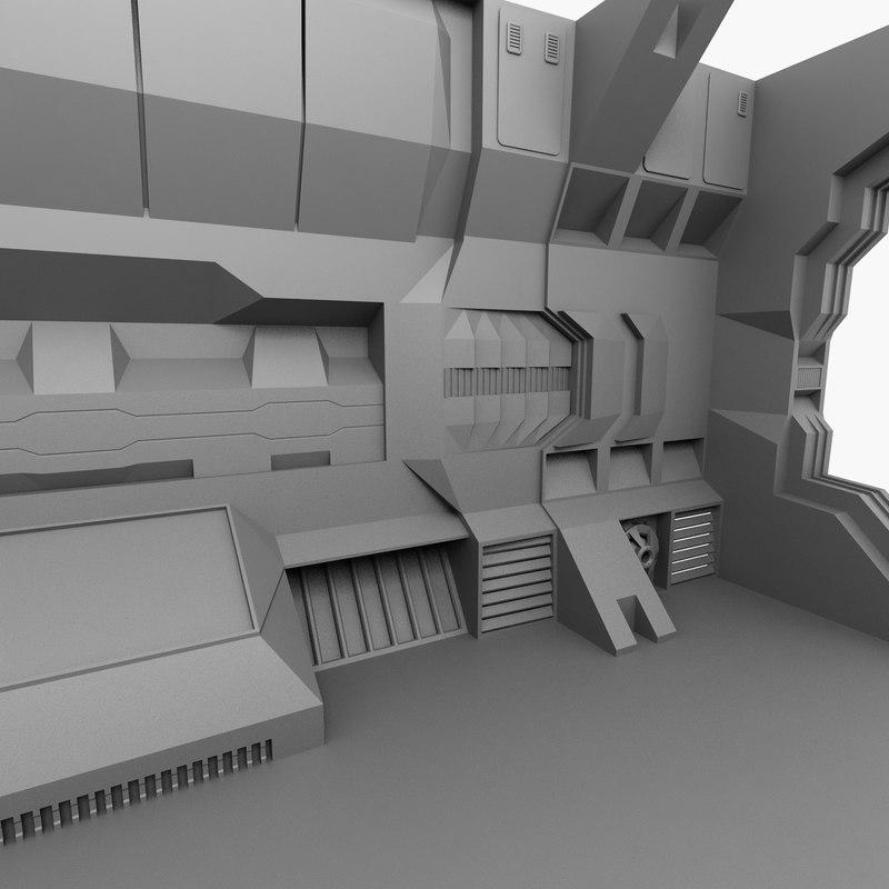 3ds sci-fi interior