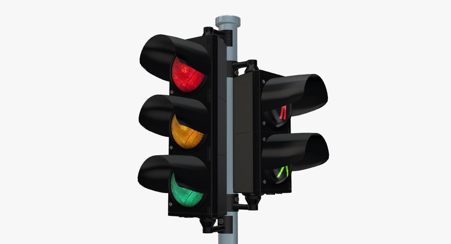 3d max traffic light