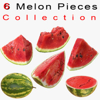 Watermelon Sliced Piece Section Restaurant ceremony celebration meal dinner buffet cafeteria festival hotel feast Collection set