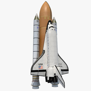 3d space shuttle boosters