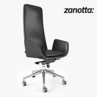 zanotta lord chair 3d model