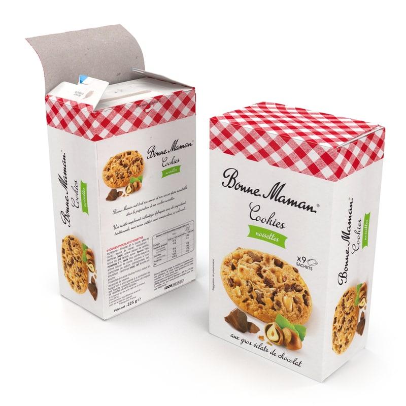 3d model box cookie