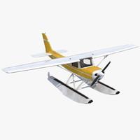3d cessna 150 seaplane 3 model