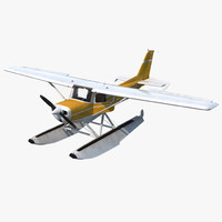Cessna 150 Seaplane Rigged 3 3D Model