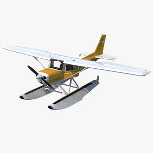 3d cessna 150 seaplane rigged