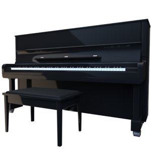 3d model upright piano