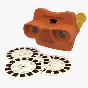 obj stereoscope view master set