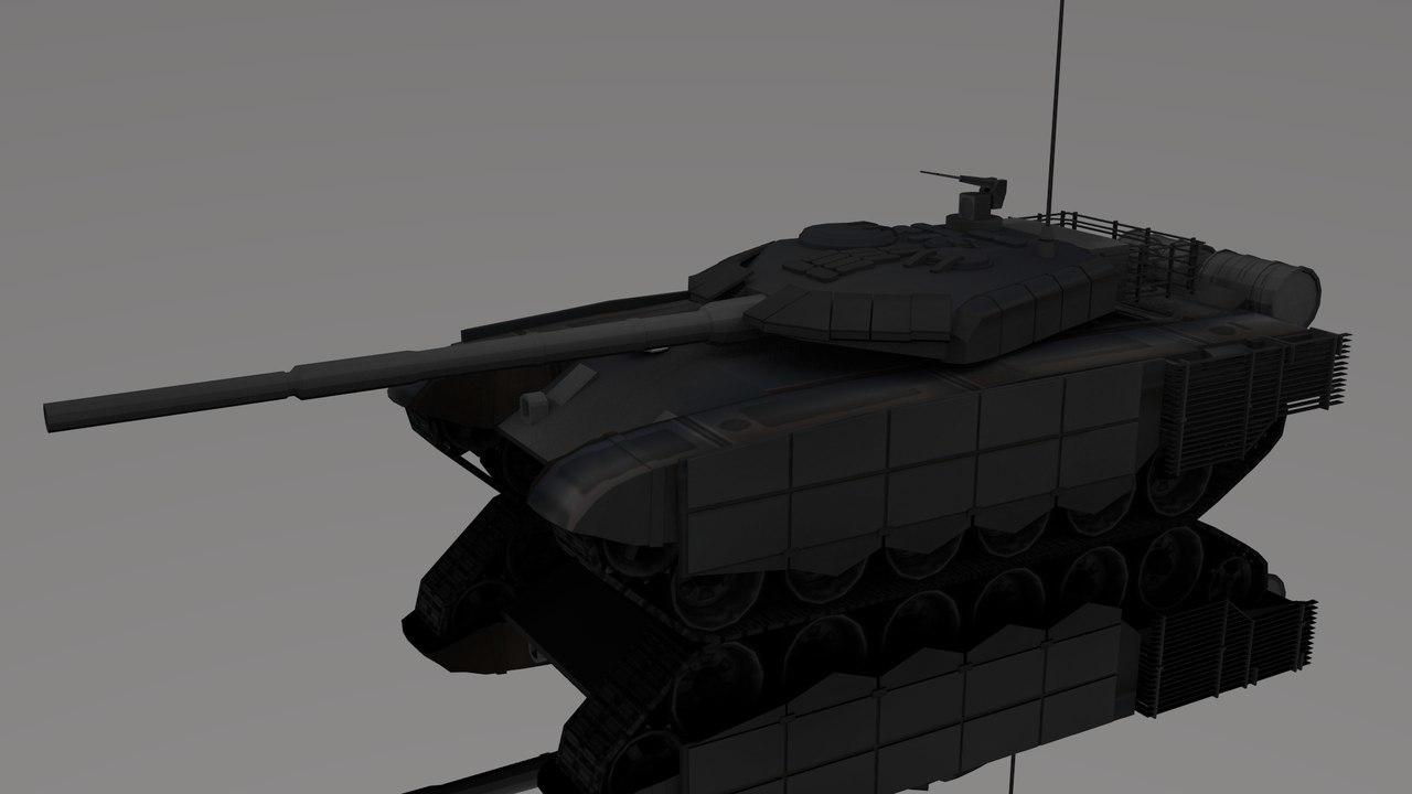 3d t-90sm tank t-90