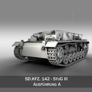 3d model - iii stug panzer tank