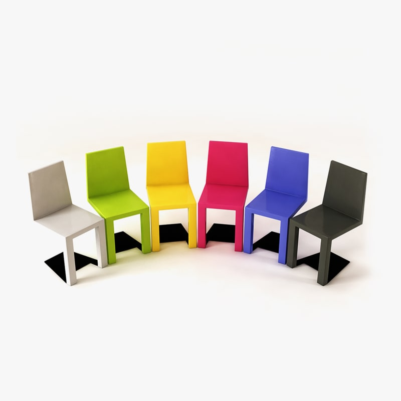 3d shadow color chair model